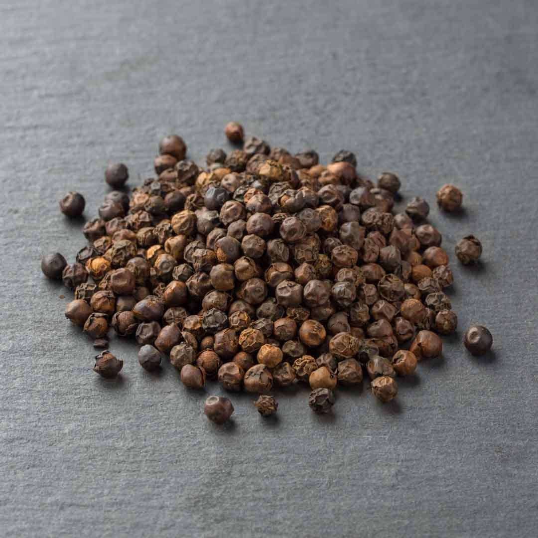 Our Tellicherry Peppercorns are large, fresh and super fragrant.